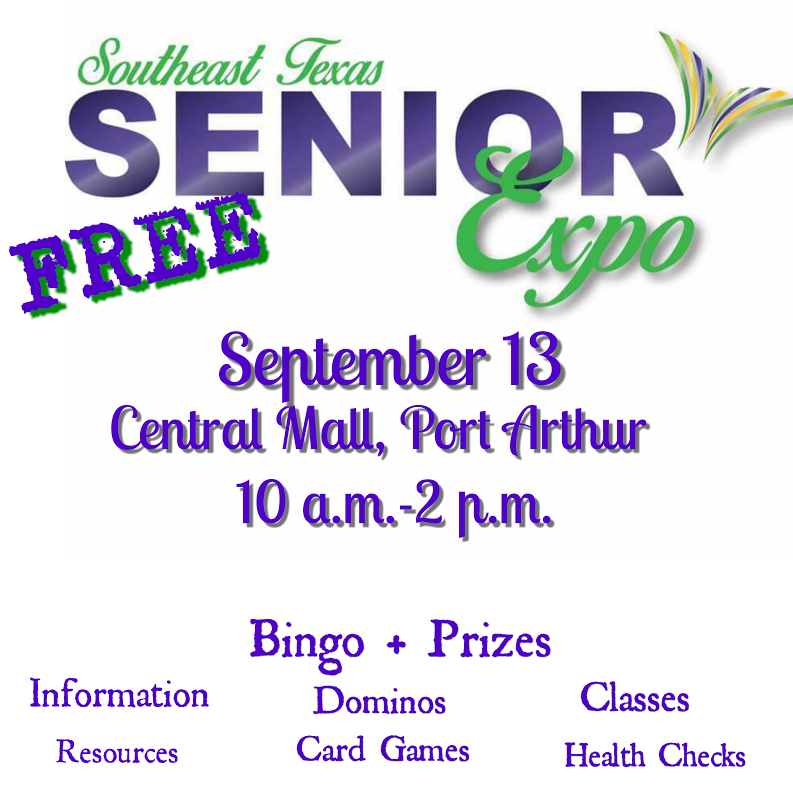 Senior Expo Port Arthur, Senior Events Beaumont TX, SETX Senior events, Golden Triangle senior health fair