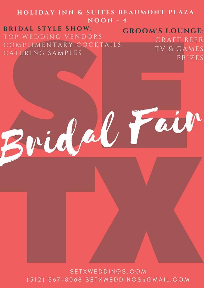 bridal fair Beaumont, Bridal extravaganza Beaumont TX, Bridal Traditions Beaumont TX, SETX Weddings, Holiday Inn Bridal Fair, wedding events Southeast Texas, SETX bridal events,