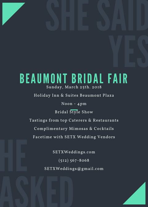 Beaumont Bridal Fair, Southeast Texas wedding events, Golden Triangle bridal show, Bridal Traditions Beaumont, SEO Beaumont, Search Engine Optimization Beaumont TX