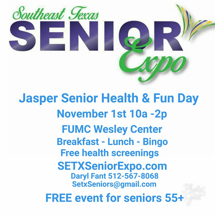 senior expo Jasper TX, health fair Jasper TX, senior events Jasper TX, senior resources Jasper TX
