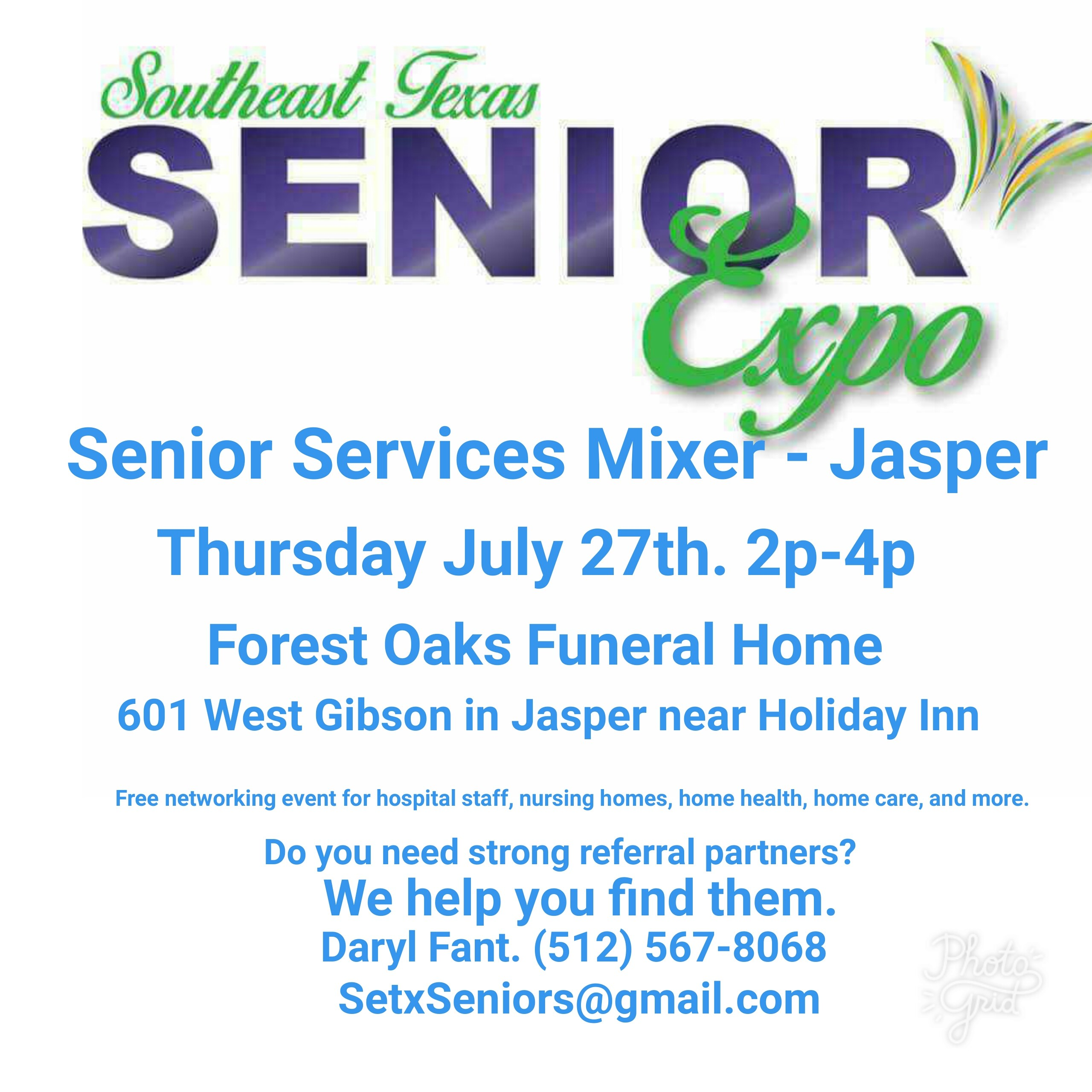 networking event Jasper TX, senior services Jasper TX, senior events Jasper TX, senior resources Jasper TX